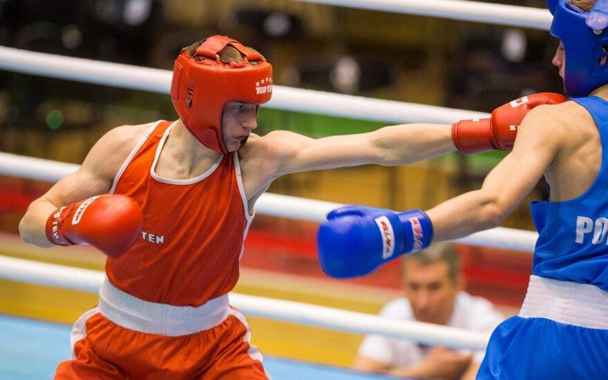 Dano Pozniako bokso turnyro Vilniuje akimirka