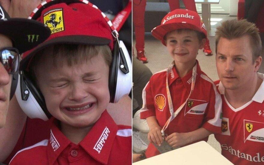 """Jaunasis """"Ferrari"""" fanas ir Kimi Raikkonenas"""