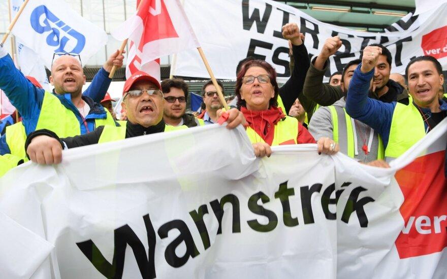 Darbuotojų streikas Vokietijoje