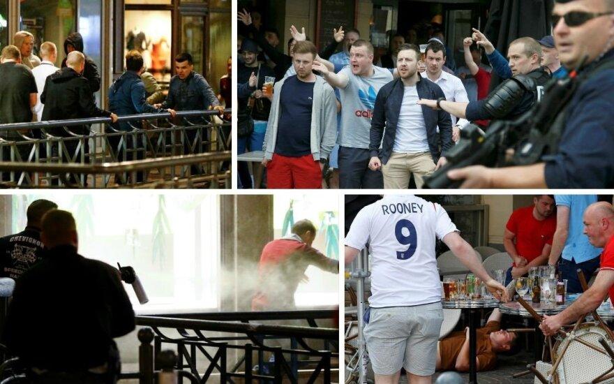 UEFA grasinimai nė motais: rusai ir anglai surengė antrą snukiadaužio raundą
