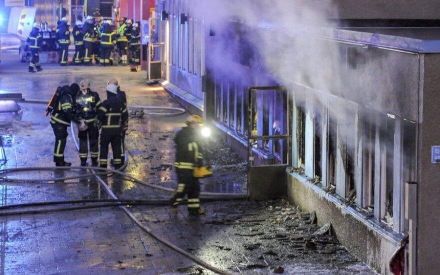 Švedijoje padegta mečetė