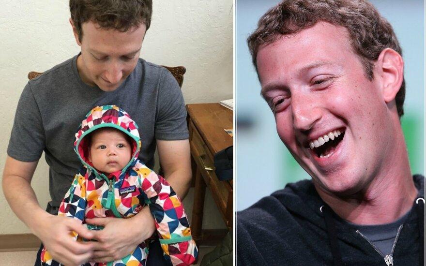 Markas Zuckerbergas su dukra Max