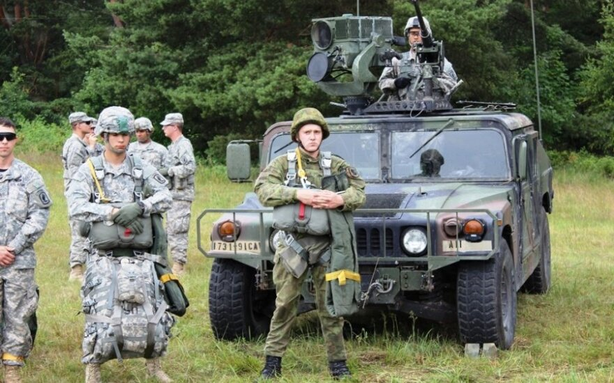 Lithuanian - USA military drill in Klaipėda region