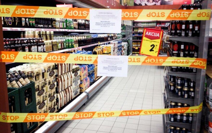 Rugsėjo 1-ąją prekyba alkoholiu nevyko