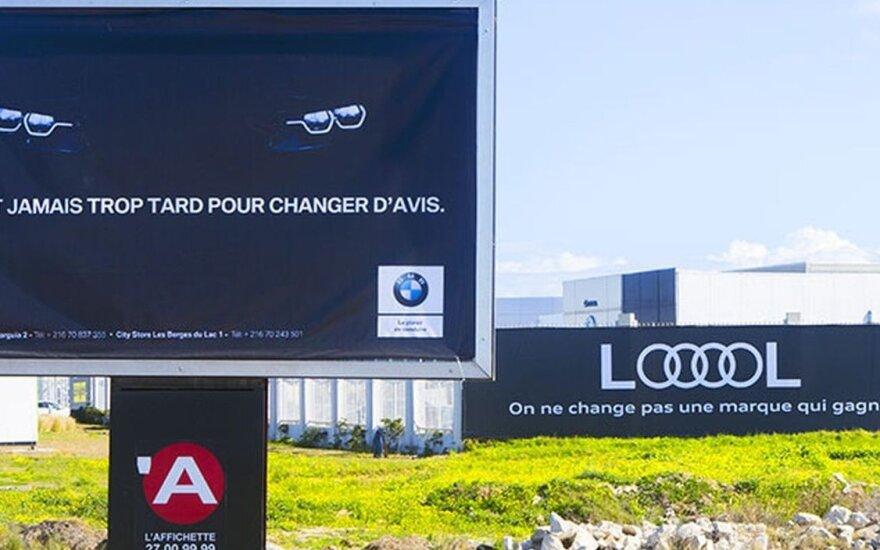 """BMW ir """"Audi"""" pardavėjų reklamos karai Tunise"""