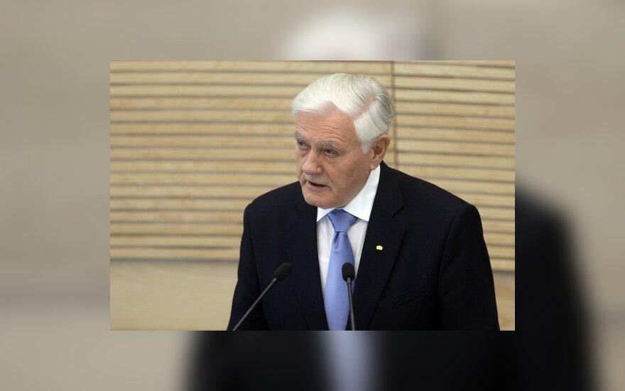 V.Adamkus: parlamentarų turi būti mažiau