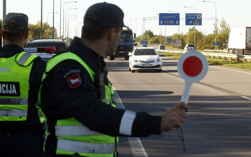 Policijosreidas Kaune