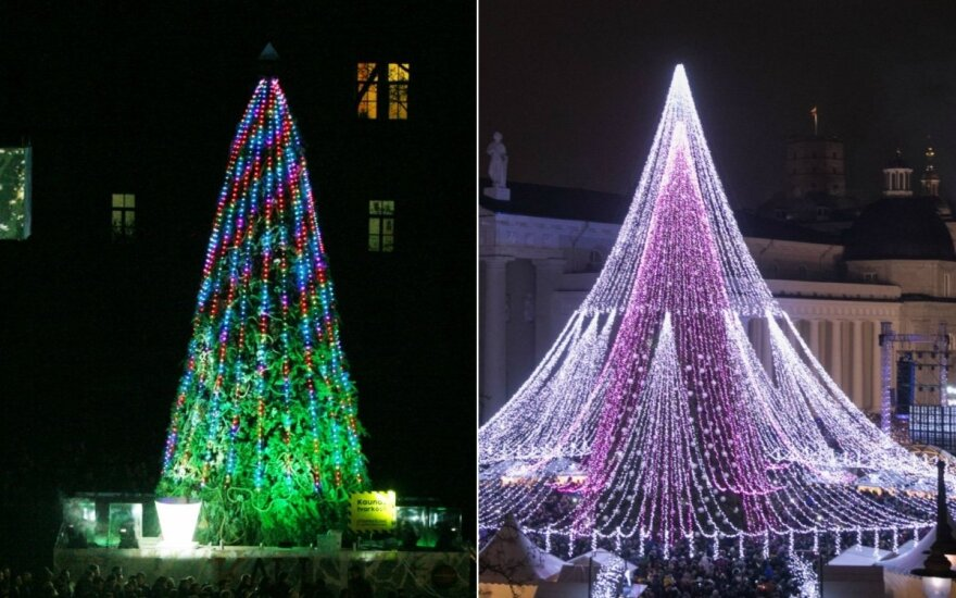 Christmas trees lit in Lithuanian cities, resorts