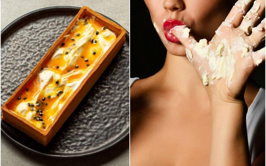 Nekeptas sūrio pyragas su pasifloromis
