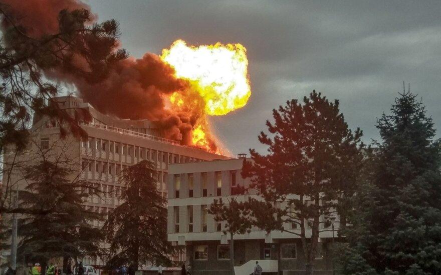Liono universiteto komplekse – didžiulis gaisras, yra nukentėjusių