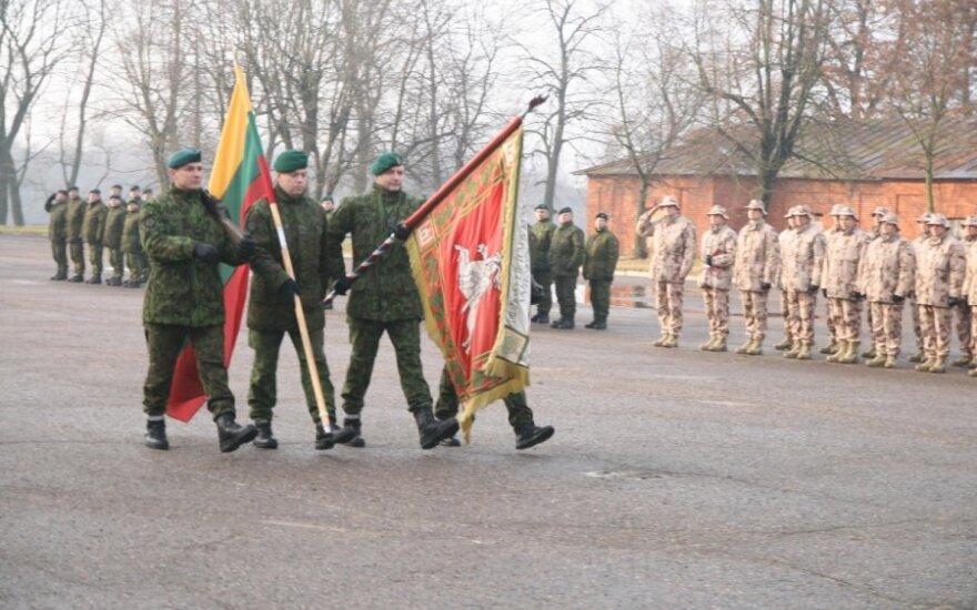 Į misiją Afganistane išlydėti Lietuvos kariai (Vytenio bataliono nuotr.)