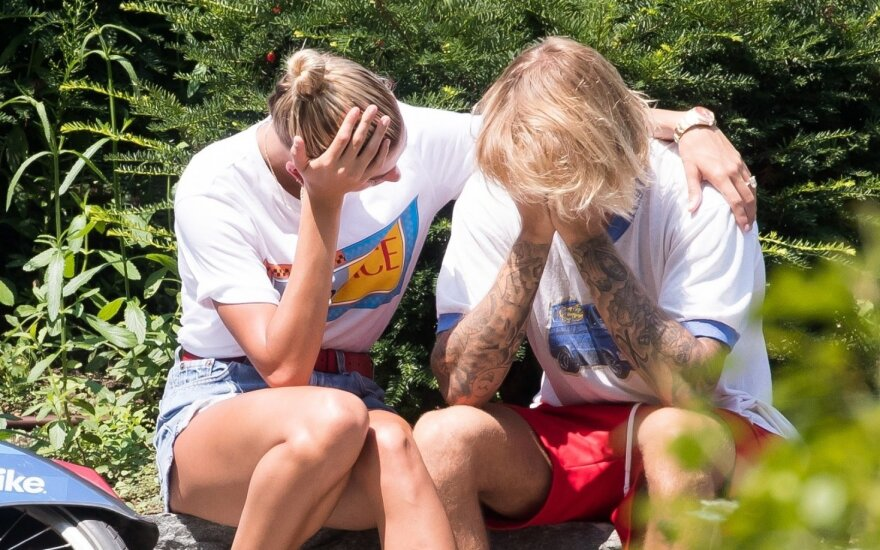 Justinas Bieberis ir Hailey Baldwin