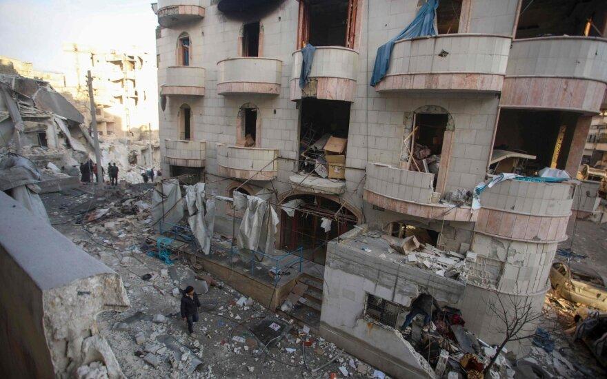 SOHR: Pietų Sirijoje pagrobti ir nužudyti devyni policininkai