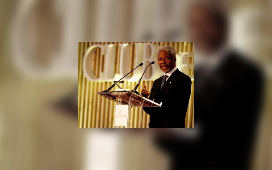 Jungtinių Tautų  generalinis sekretorius Kofi Annanas