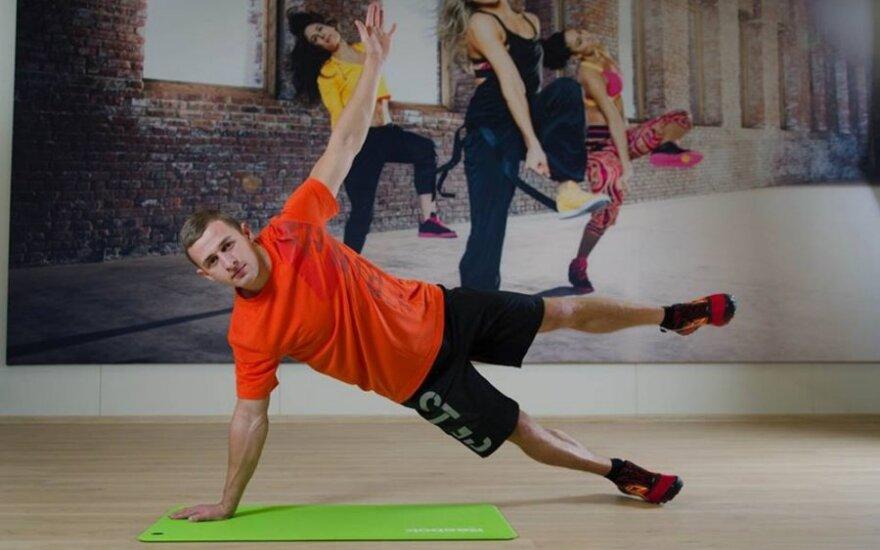 Pataria treneris B. Burneika: pilvo ir liemens raumenų lavinimo naujovės