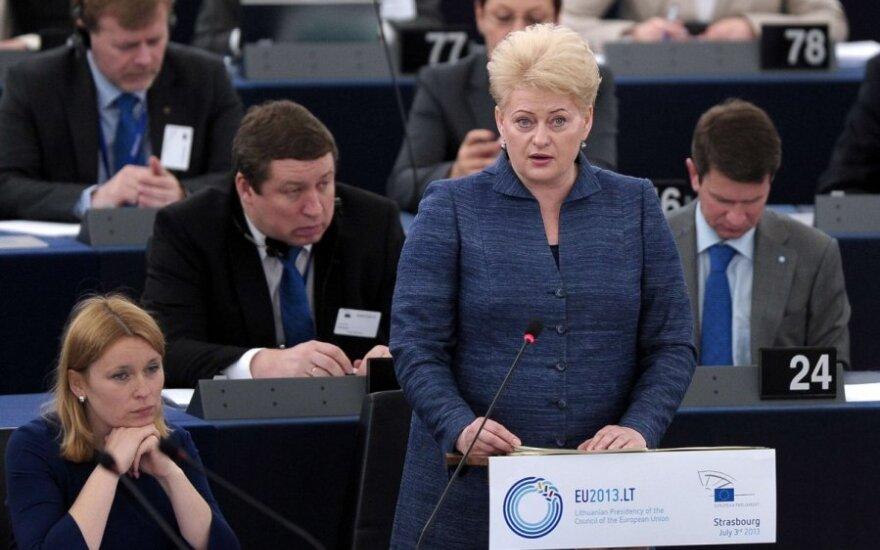 Dalia Grybauskaitė Europos Parlamente
