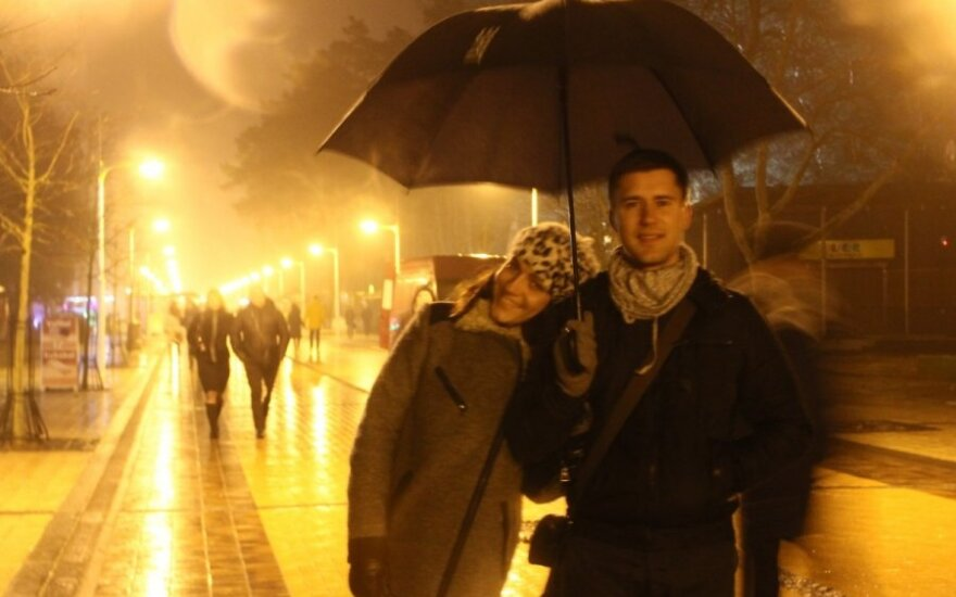 Valentino dienos vakarą Palangoje – įsimylėjėlių antplūdis