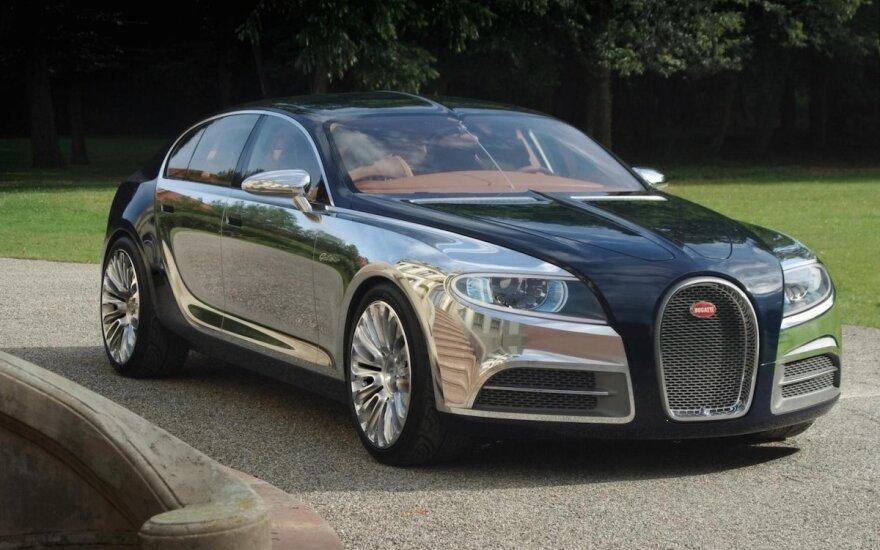 """""""Bugatti"""" sukūrė sedaną, tačiau nusprendė jo neparduoti: suprato, kad yra per baisus"""