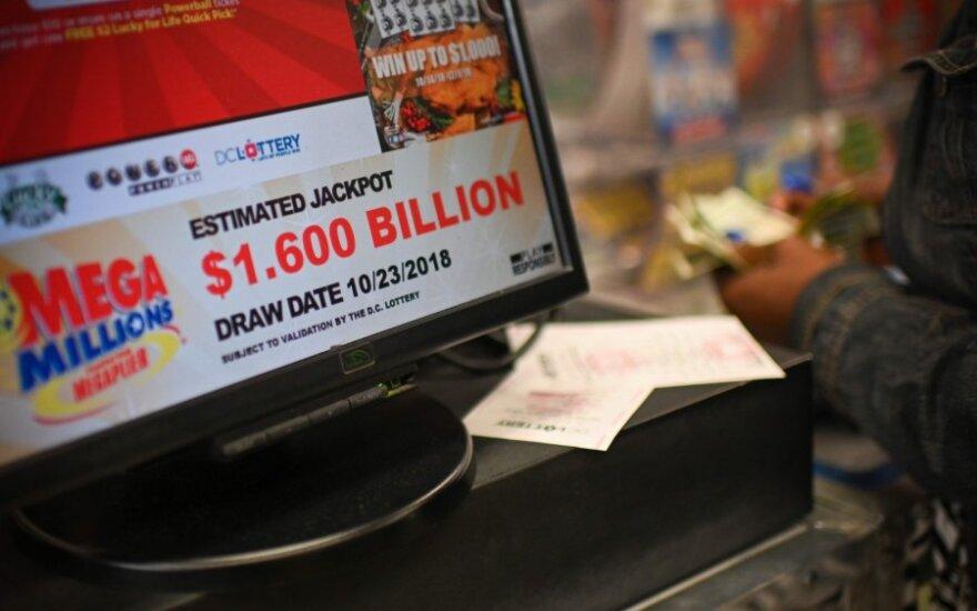 JAV loterijos laimėtojas išlošė pusantro milijardo dolerių