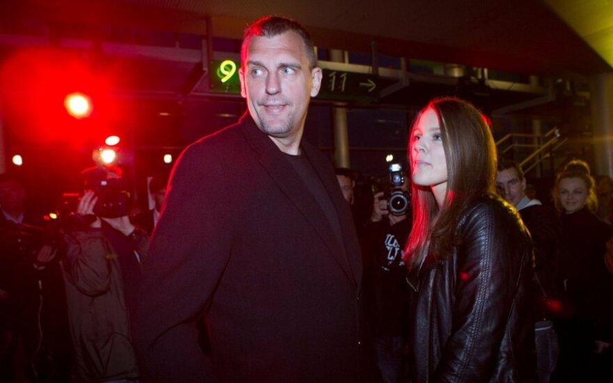 Gintaras Einikis su dukra
