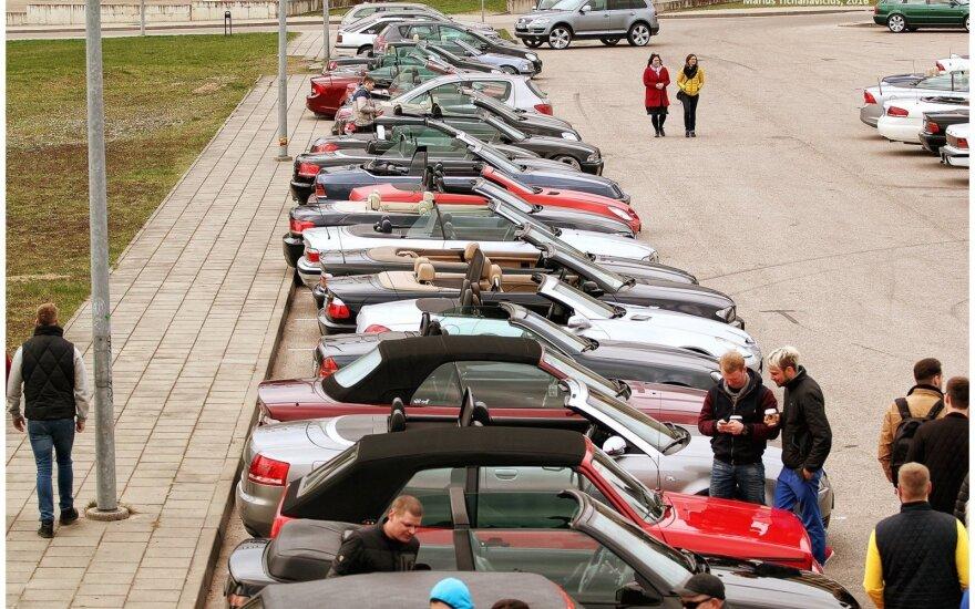 Kabrioletų renginys Vilniuje