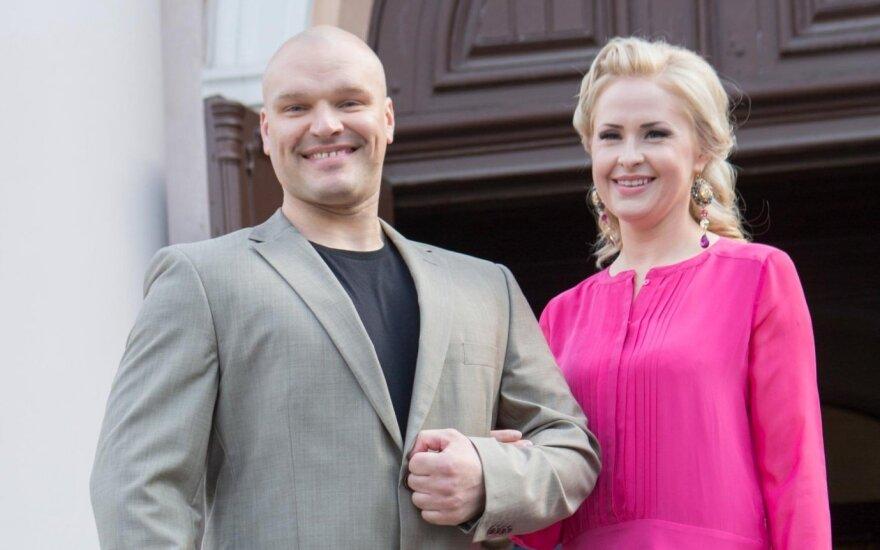Ramūnas Vyšniauskas su žmona Inese