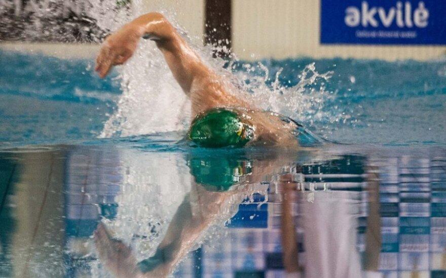 Europos jaunimo plaukimo čempionate A. Šidlauskas liko dešimtas