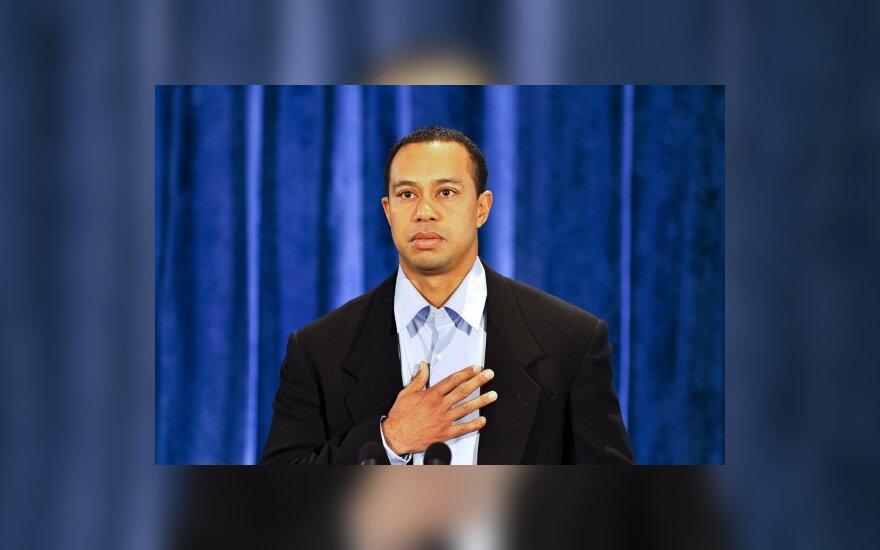 T.Woodsas viešai atsiprašė