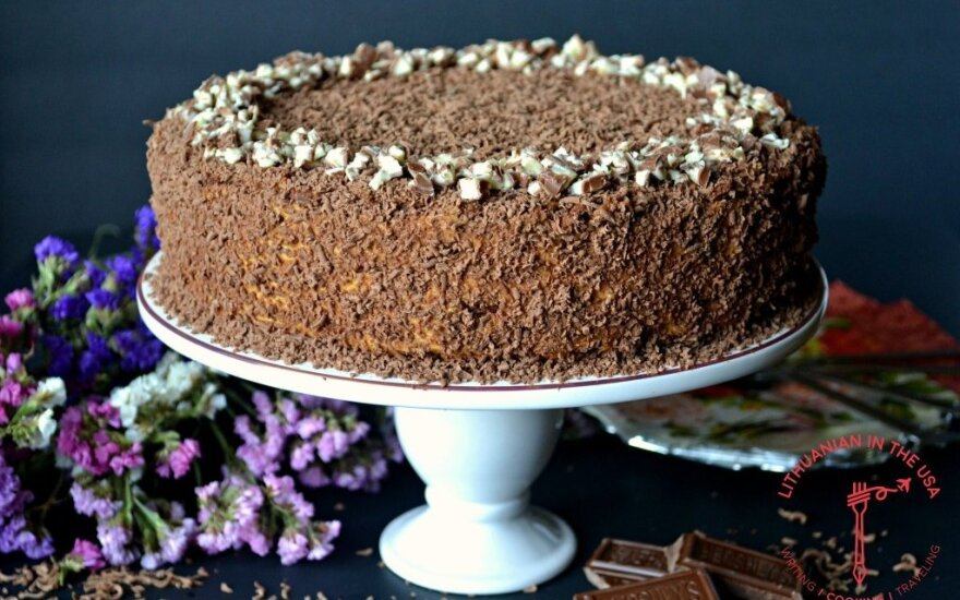 Šokoladinis sausainių tortas