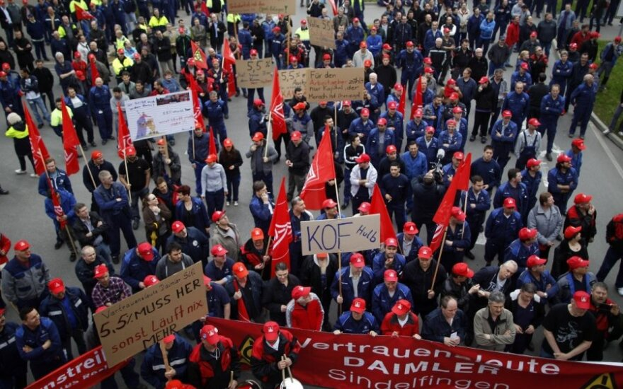 Vokietijoje streikuoja mašinų gamybos pramonės darbuotojai
