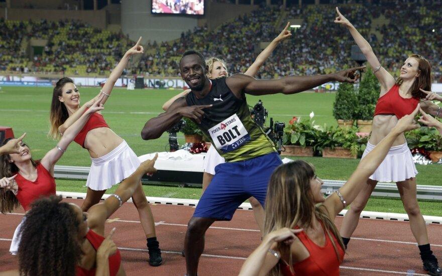 Usainas Boltas Deimantinės lygos varžybose Monake