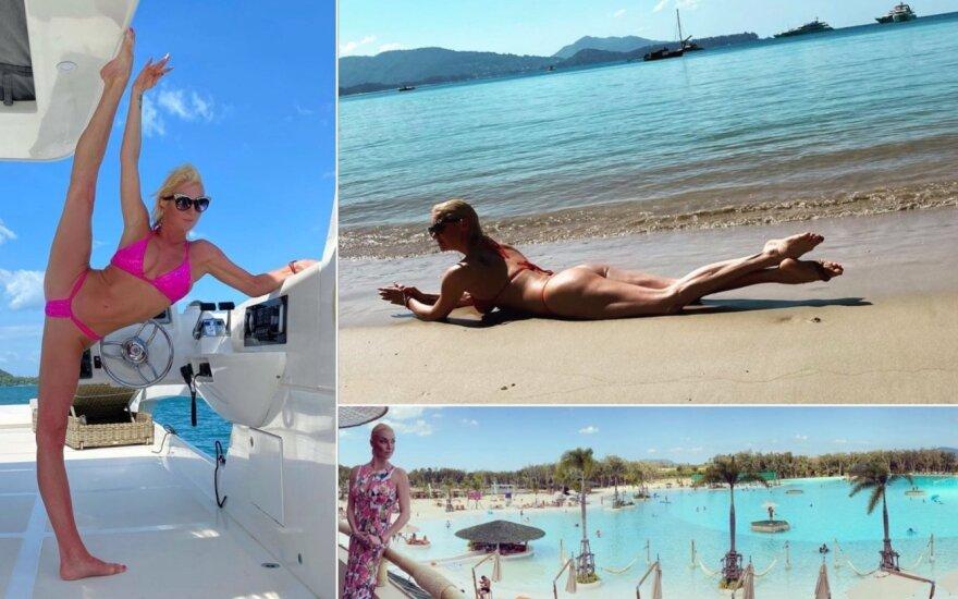 Anastasija Voločkova atostogauja Tailande