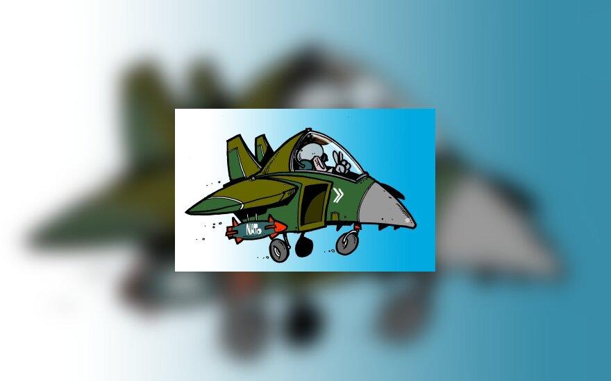 NATO naikintuvas - karikatūra
