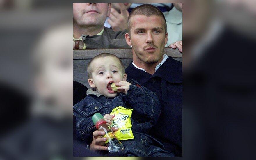 Davidas Beckhamas su sūnum Brooklynu