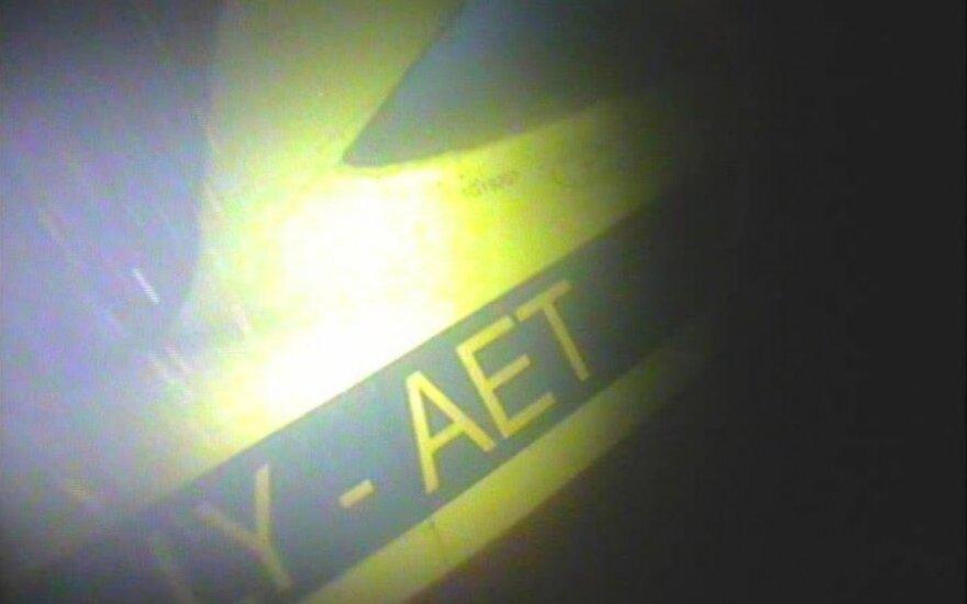 Parodė nuskendusio lėktuvo nuotrauką