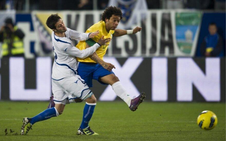 Marcelo įveikė Miralemo Pjaničiaus gynybą ir muša įvartį