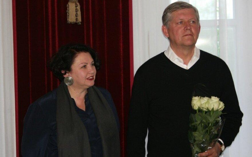 Vaidotas Žukas su žmona Aukse
