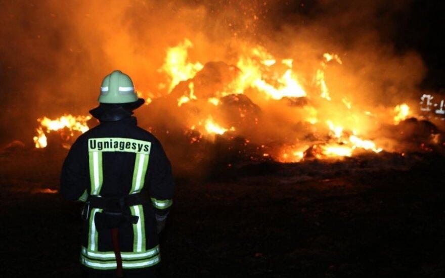 Padegimai Vilniaus rajone: pranešta apie sudegintus šiukšlių konteinerius bei automobilius