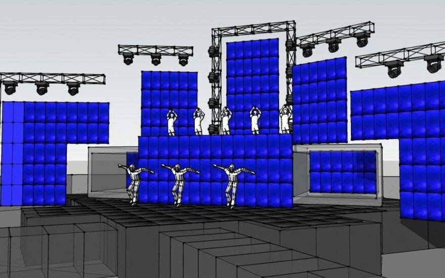 Donato Montvydo koncerto scenos vizualizacija