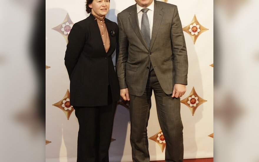 Andrius Kubilius su žmona Rasa
