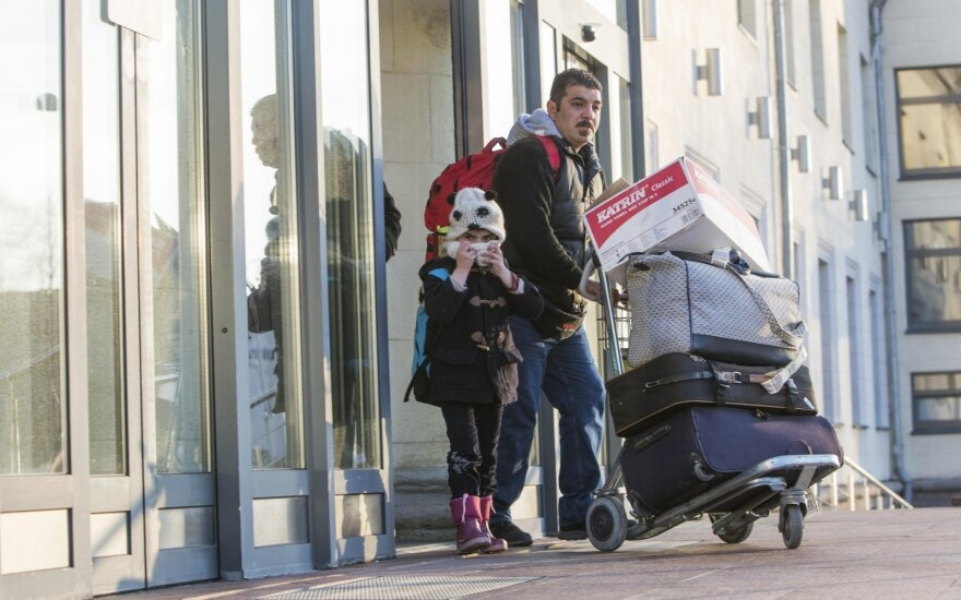 The Iraqi family came to Lithuania from Greece last December