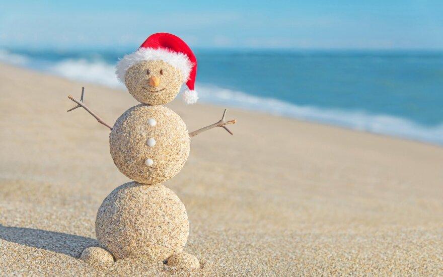 Tradicinį kūčių stalą ir sniegą lietuviai vis dažniau išmaino į keliones