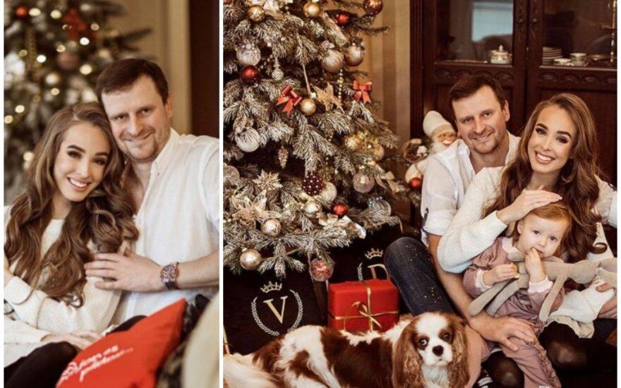 Svarbios tradicijos besilaikantys Viktorija Siegel ir Danielius Bunkus namuose sukūrė tikrą kalėdinę pasaką