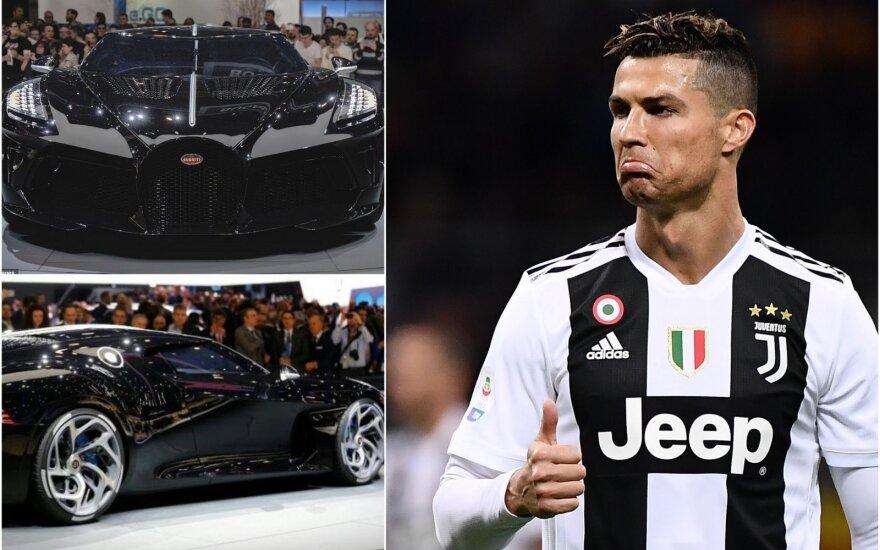 """""""Bugatti"""", Cristiano Ronaldo (Twitter nuotr.)"""