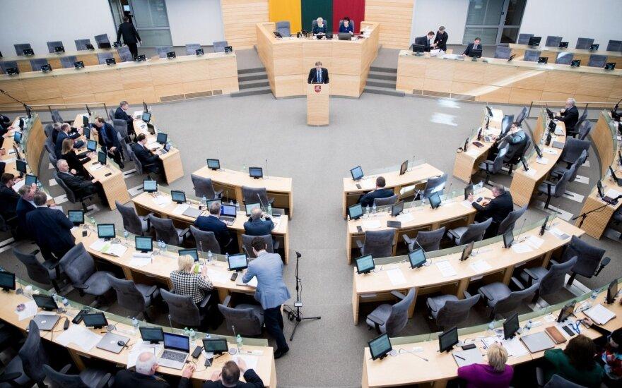 Socialinės apsaugos ir darbo ministro Lino Kukuraičio  pranešimas apie Vaiko teisių apsaugos pagrindų įstatymo įgyvendinimą