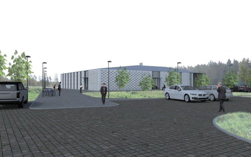 Krematoriumo Klaipėdos rajone vizualizacijos