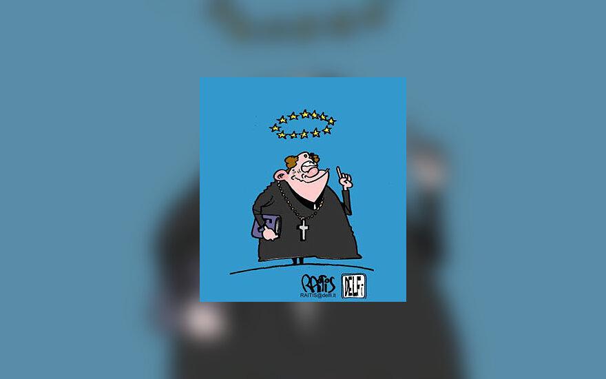 Europos Sąjunga ir Bažnyčia - karikatūra