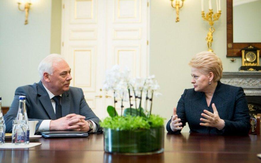Dailis Alfonsas Barakauskas ir Dalia Grybauskaitė