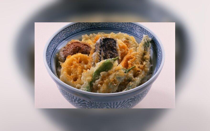 Daržovės tempura tešloje