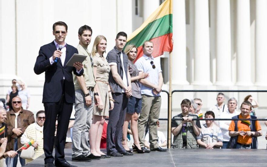 """""""Aš myliu Lietuvą"""" dalyviai"""